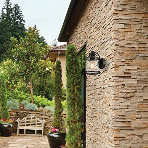 Globe Electric Oil Outdoor Wall Mount Sconce with Shade