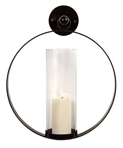 circle metal candle wall sconce