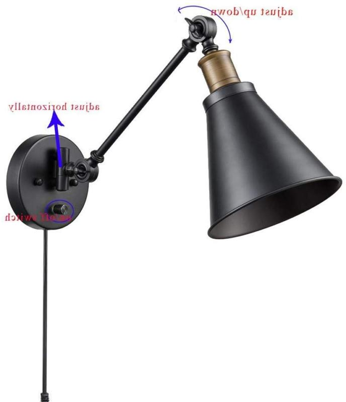 CLAXY Ecopower Arm Sconce Reading Lamp-2