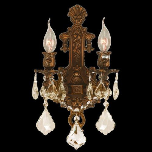 CLEARANCE Versailles 2 Gold Finish Crystal Wall