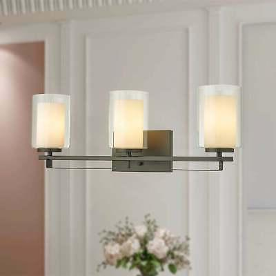 Constance Oil Rubbed Bronze 3-Light Wall Sconce with Dual Br