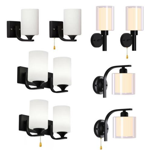 contemporary led glass wall sconce lamp bedroom