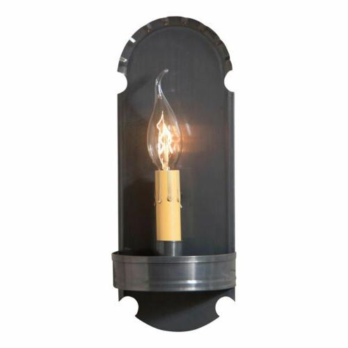 country primitive foot sconce metal wall light