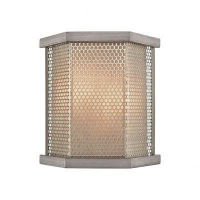 crestler two light wall sconce weathered zinc