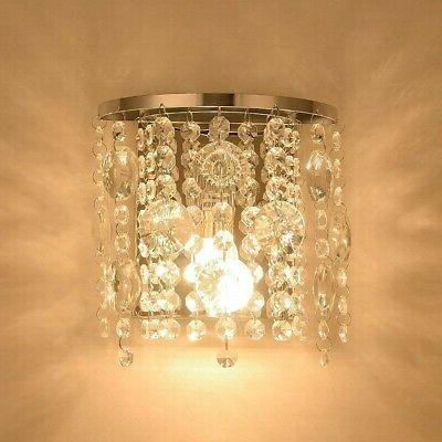 crystal wall sconce light fixture modern contemporary