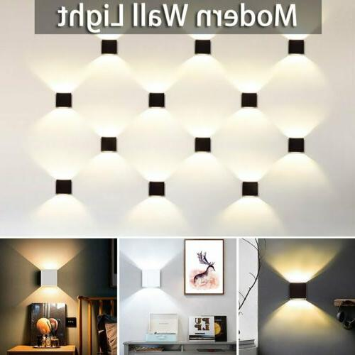 Modern LED Wall Light Up Down Cube Outdoor Sconce Lighting L