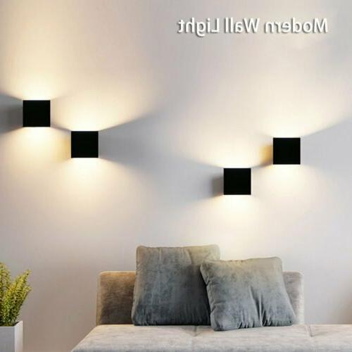 Cube LED Wall Lights Modern Up Down Sconce Lighting Outdoor