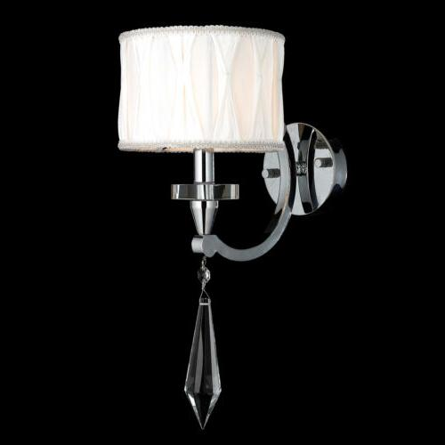 Cutlass 1 Chrome Finish Wall Sconce White Shade