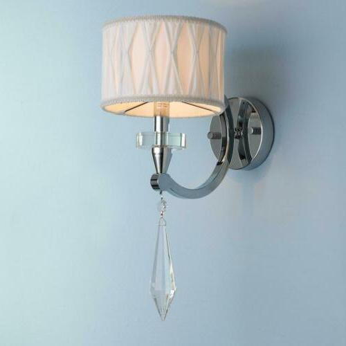 Cutlass 1 Light Arm Chrome Finish Clear Crystal Wall Sconce