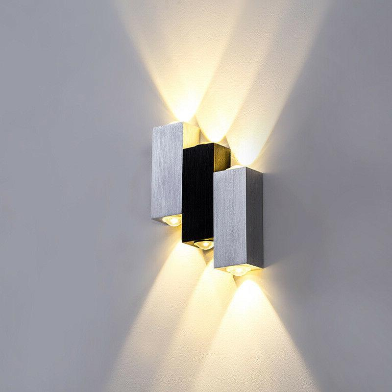 Dimmable/N 6W LED Wall Sconce Light Fixture Up/Down Step Lam