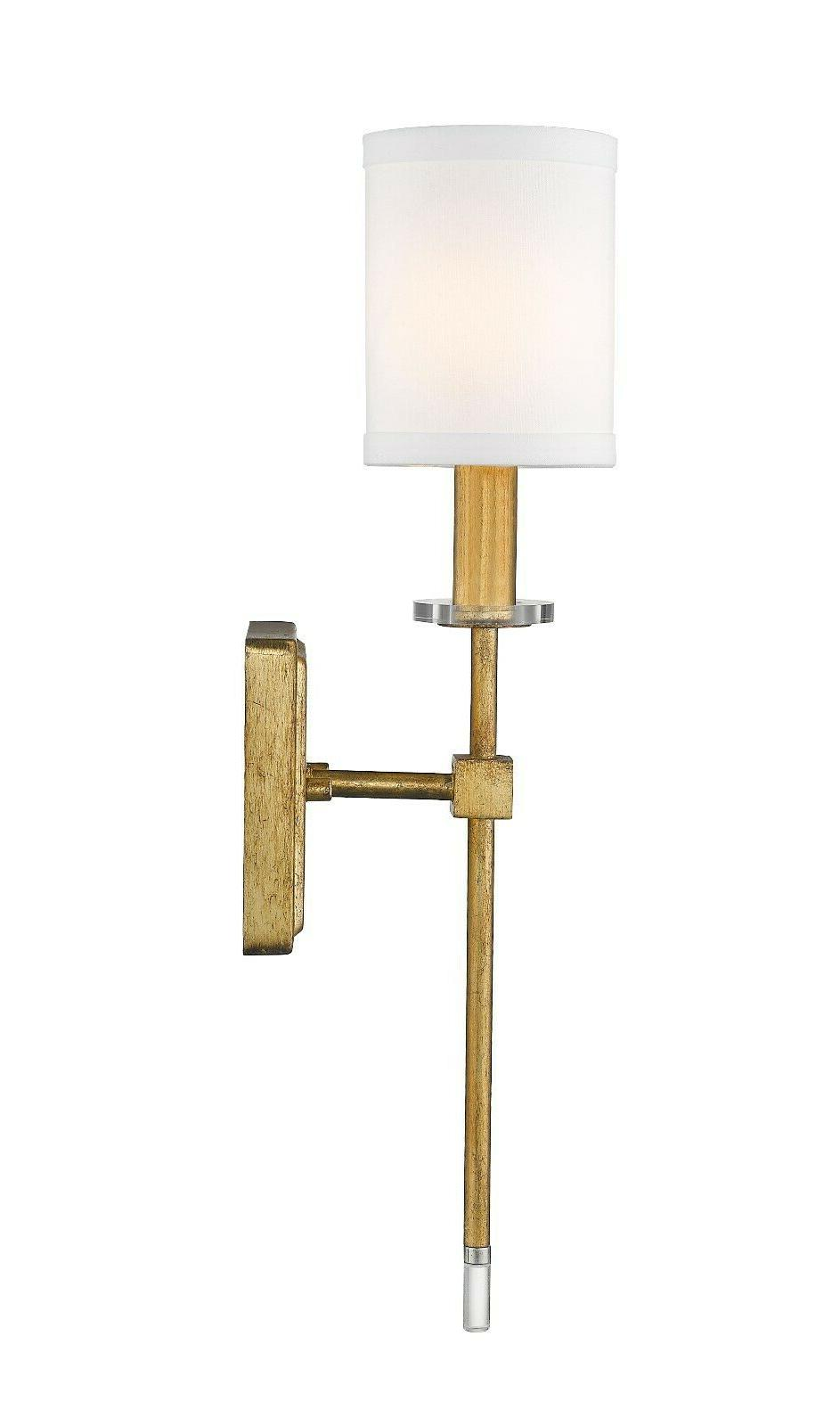 "Distressed Gold 1-Light 20""H Fixture"