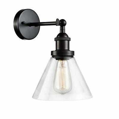 CLAXY Ecopower Industrial Antique Glass Wall Sconce 1-Light