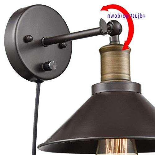 Industrial Hardwired & Plug-in Wall Vintage Light