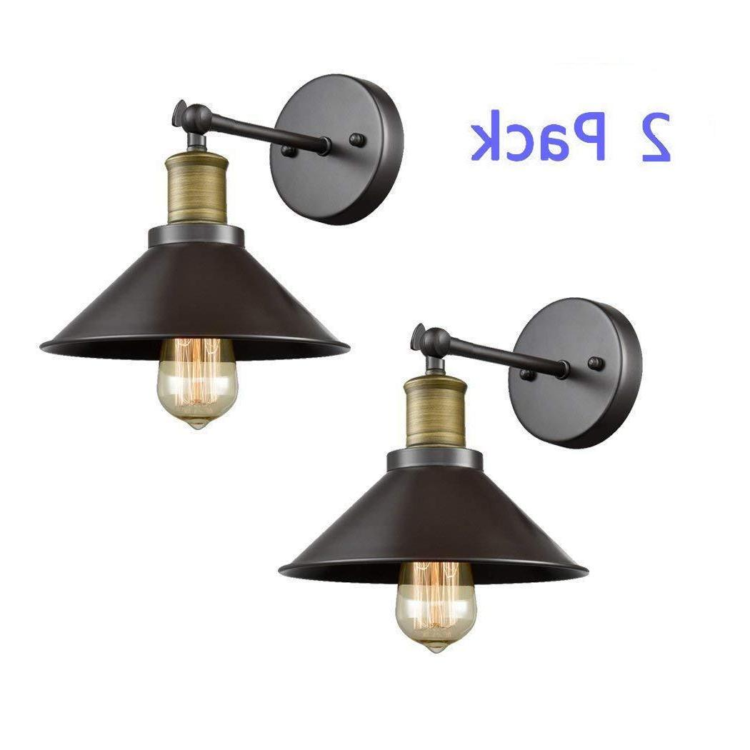 CLAXY Ecopower Industrial Simplicity Wall Sconce Pack, Oil Rubbed Bronze