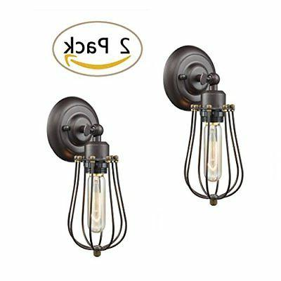 Ecopower Light Wire Cage Wall Sconce 2 Pack CLAXY Industrial
