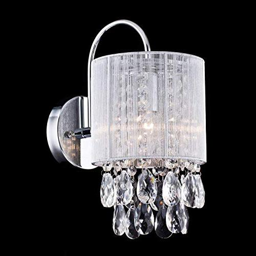 CLAXY Ecopower Metal Crystal Wall Sconce-1 light