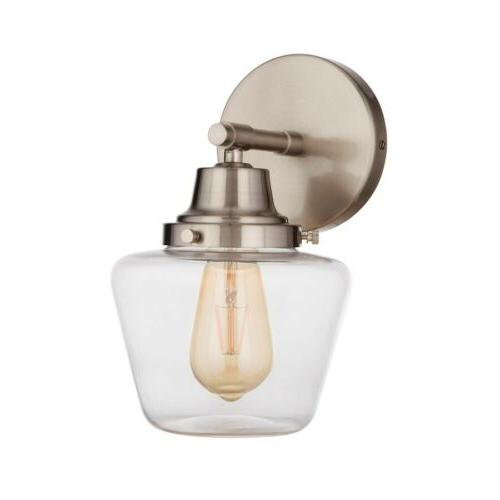 essex 1 light wall sconce brushed polished
