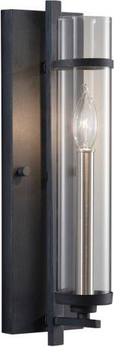 Ethan One Light Wall Sconce in Brushed Steel