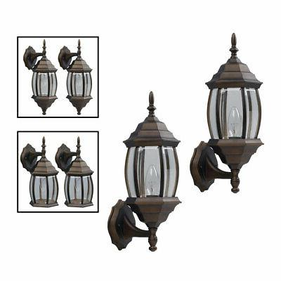 Outdoor Exterior Lantern Fixture Wall Sconce Pack, Oil