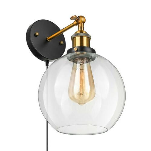 Farmhouse Wall Sconce Globe Sconce Lighting Wall Plug In