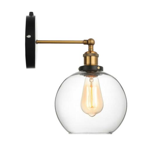 Farmhouse Sconce Glass Globe Sconce Lighting Wall In