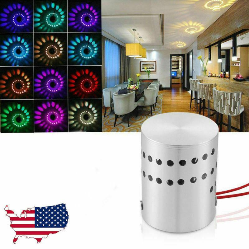 Fashion 3W Spiral LED Light Wall Sconce Lamp For KTV Aisle H