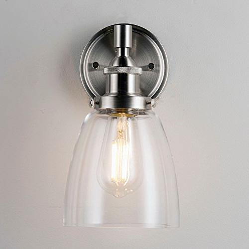 Fiorentino Sconce – Brushed w/ Clear Glass Linea Liara