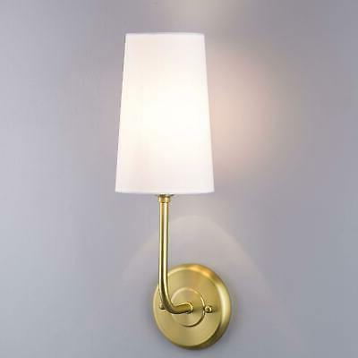 forma wall sconce light fixture brushed brass