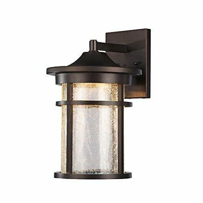 frontier transitional led rubbed bronze outdoor wall