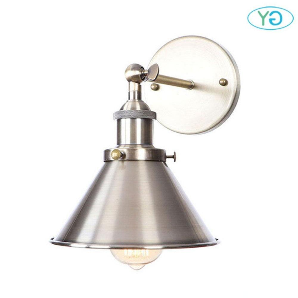 Hardwire Antique Metal Shade Industrial <font><b>Wall</b></font> with <font><b>Oil</b></font> Rubbed for Cafe, Club