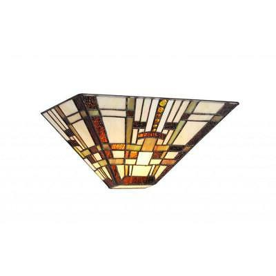 HOPKINS, 1 Light Tiffany-style Mission Wall Sconce 12 Wide