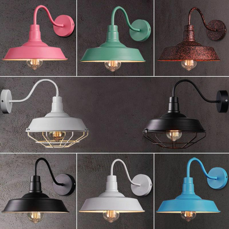 hot retro industrial gooseneck barn wall sconce