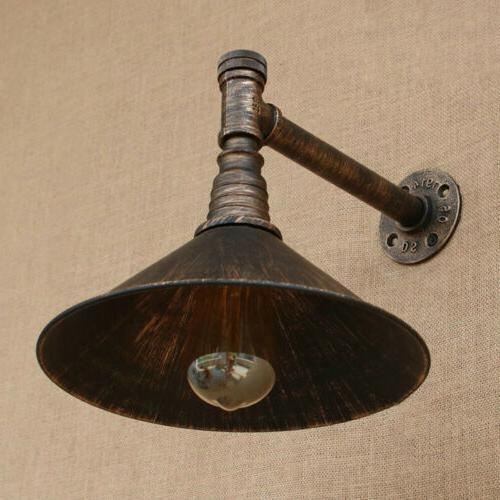 Industrial Metal Shade Wall Sconce Arm Wall with