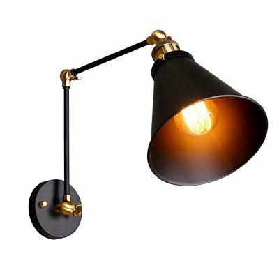 Industrial Arm Indoor Wall Sconce Shade Down Lighting