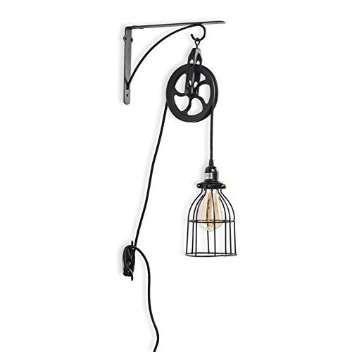 industrial pulley wall sconces pendant