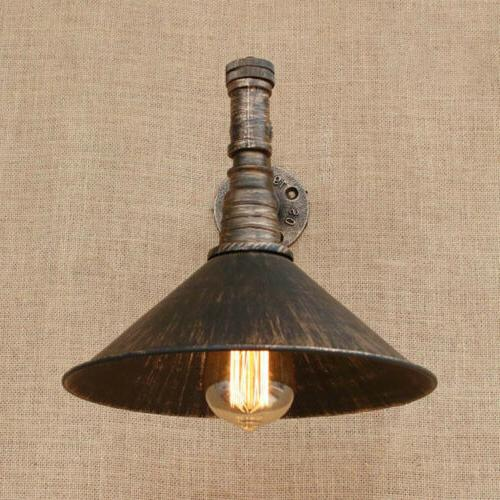 Industrial Rustic Metal Wall Sconce Fixture Wall