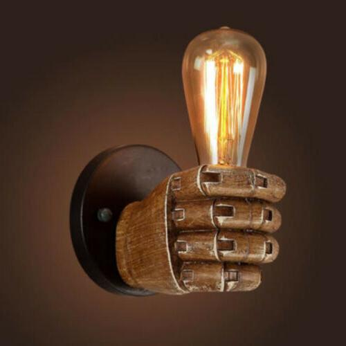 Industrial Wall Sconce Double Hand Style 1 Light Lamp