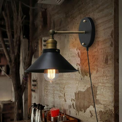 Retro Vintage Industrial Barn Style Wall Sconce Metal Shade