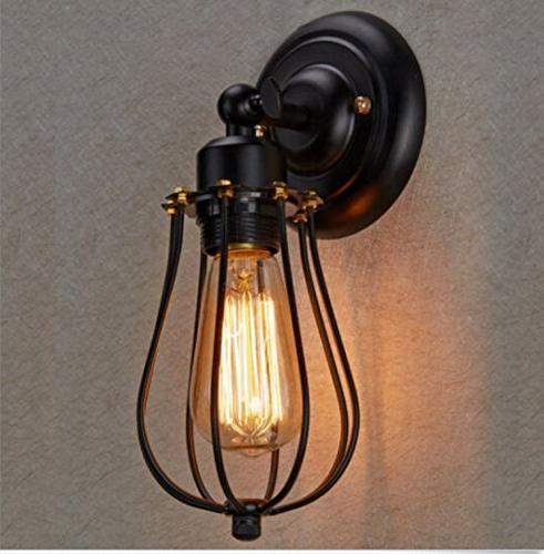 Lightess Vintage Sconce Light Black