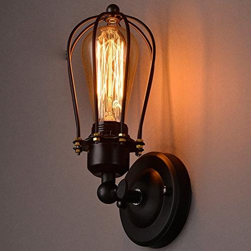 Lightess Wall Sconce Light Wire Cage