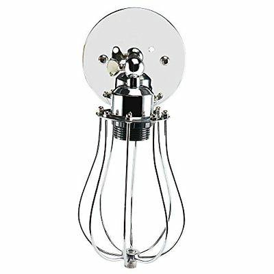 industrial vintage wall sconce light chrome mini