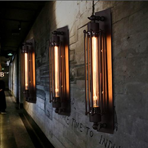 Pauwer Industrial Wall Light Wire Cage Sconce Edison Wall