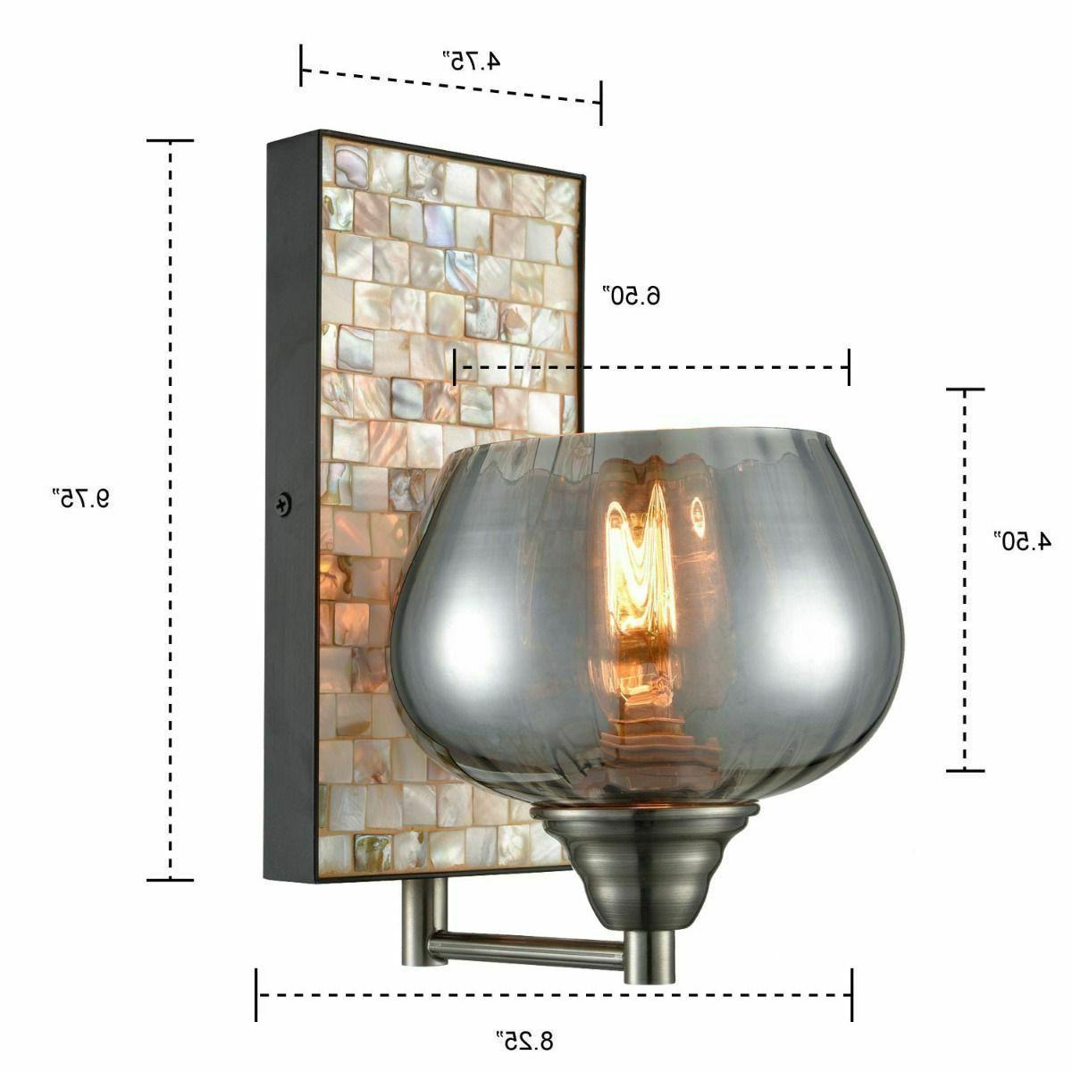 CLAXY Industrial Wall Light Glass Sconce -