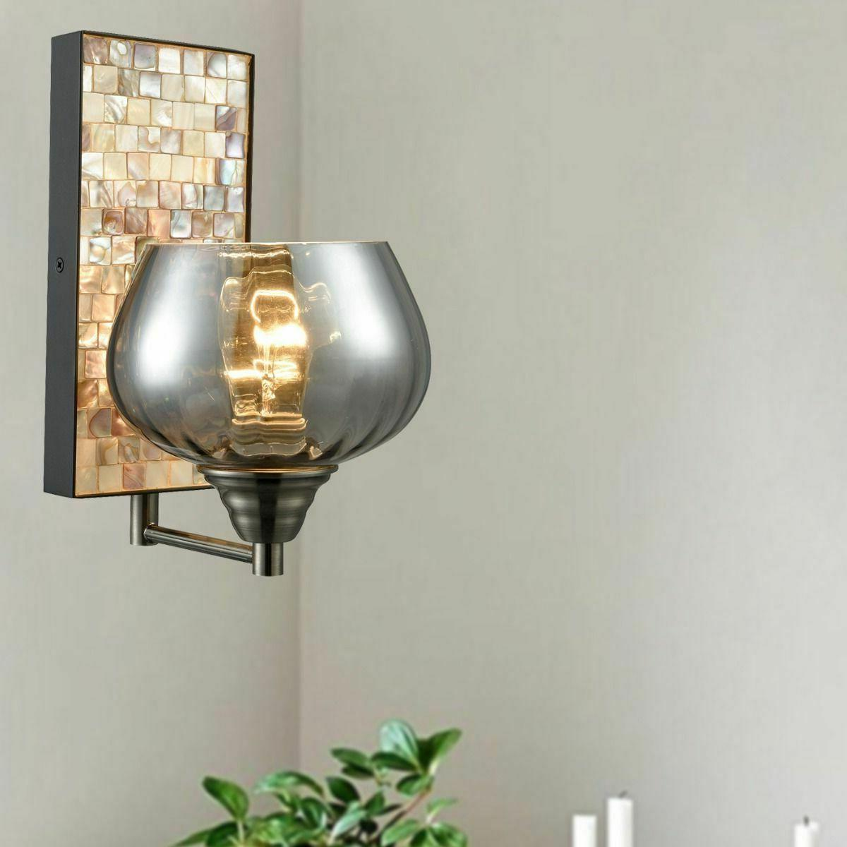 CLAXY Industrial Glass Wall Sconce -