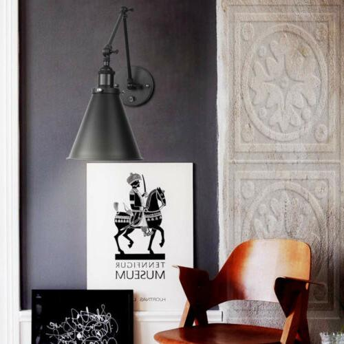 2 Lights Industrial Wall Light with Wall Sconce Plug-In Wall Lamp