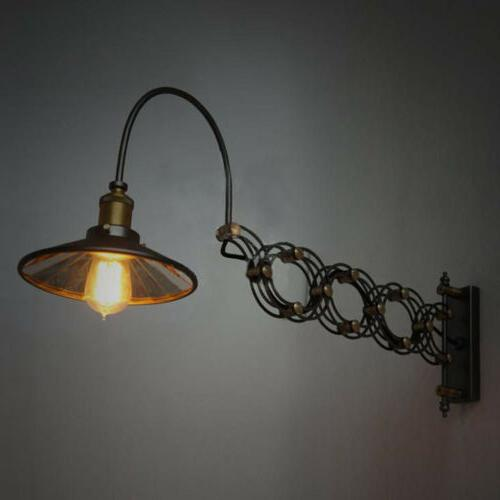Industrial Wall Sconce Lamp Extension Loft Mount