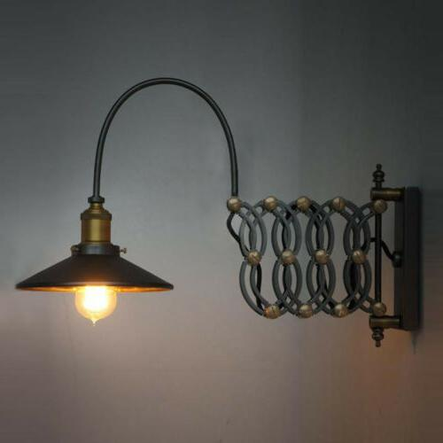 Industrial Sconce Light Lamp Extension Arm Loft