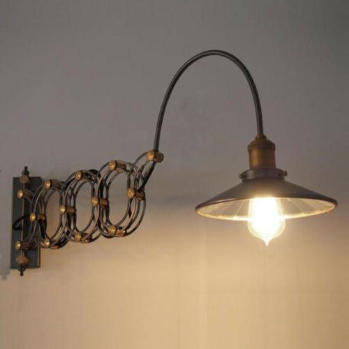 industrial wall sconce light lamp extension scissor
