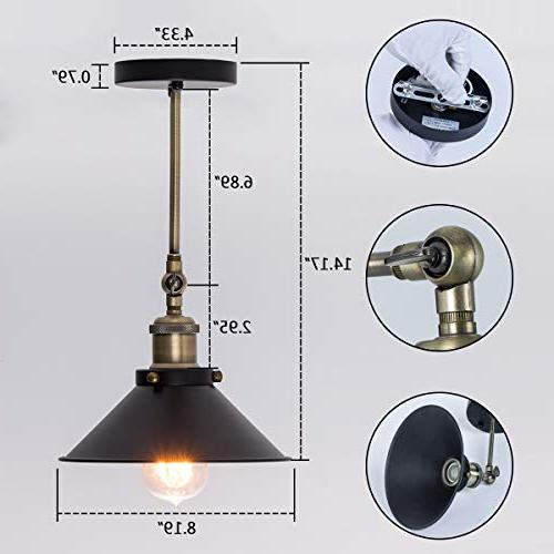 Industrial Vintage Lamp, Style Arm Light Fixtures with Black