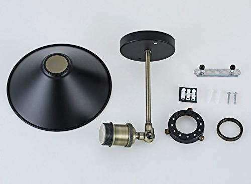 Industrial Wall Sconce, Vintage Lamp, Style Arm Light Fixtures Black for Bathroom, Cafe and